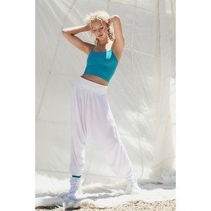 NEW Free People Movement White Soft Windy Meadow Harem Pants